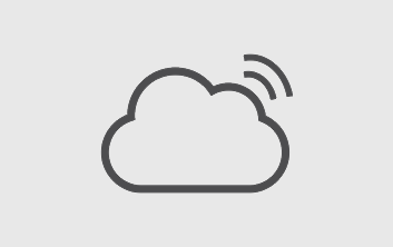 Icon for Information Technology section - icon is a cloud graphic