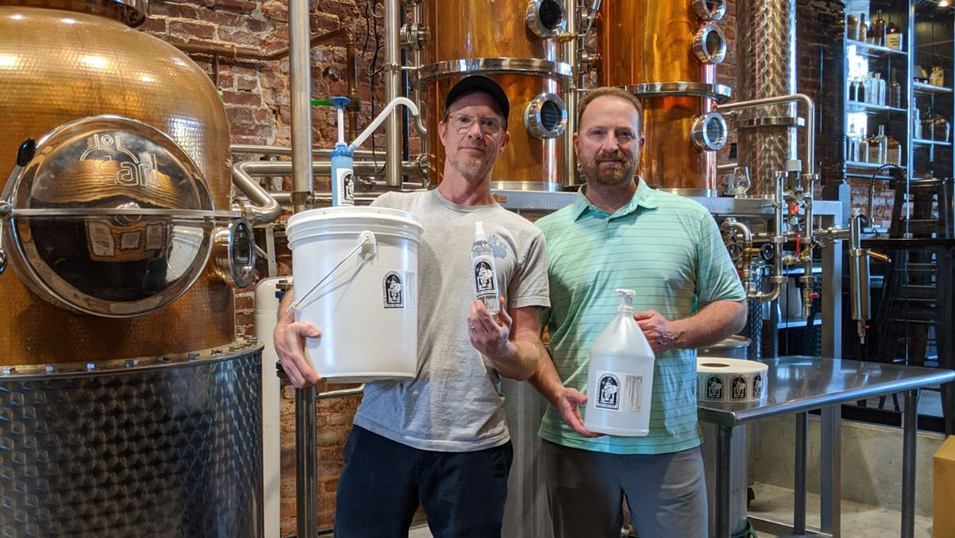 southern company  local distillery partner for hand sanitizer