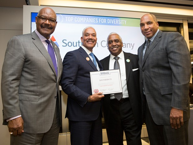 Chris Collier receives diversity award on behalf of Southern Company