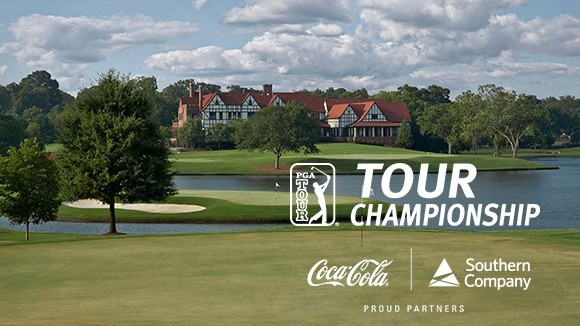 East Lake Golf Course with TOUR Championship, Southern Company and Coca-Cola logos