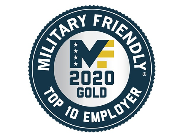 2020 Military Friendly Top 10 Employer Award